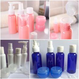 Envasado de aerosol cosmético online-9 Unids / set Botellas de Viaje Recargables Set Paquete Botellas de Cosméticos De Plástico Presionando Kit de Herramientas de Maquillaje Botella de Spray Para Viajes