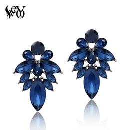 Wholesale Nickel Free Stud - VEYO Full of Crystal Earrings for Women Stud Earrings Fashion Jewelry Zinc Alloy Lead free nickel free