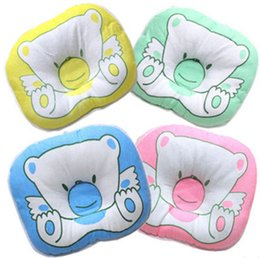 Wholesale Wholesale Body Pillows - Infant Bear Pattern Pillow Newborn Support Cushion Pad Baby Stereotypes Pillow 4 colors C4048