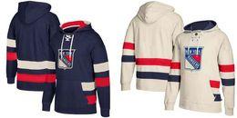 Wholesale Men Blank Sweatshirts - 2018 New New York Hockey Hoodies Blank Home and Away Stitched Jersey Sweatshirts