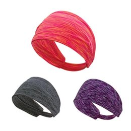 Wholesale Elastic Sport Hair Band - Retail 15 Colors Sports Yoga Hair Bands Quick Drying Elastic Headbands Hair Accessories Head Wear Free Shipping