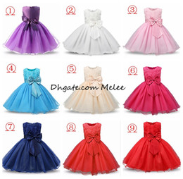 Wholesale Wedding Clothes For Girls - 2-12Y INS Girls Flower Sequins Princess Dresses Toddler Girls Summer Halloween Party Girl tutu Dress Kids Dresses for Girls Clothes Wedding