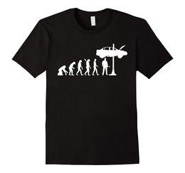 2019 magliette meccaniche Meccanico T-Shirt Evolution Mechanic T Shirt Funny Uomo Streetwear Funny Print Abbigliamento T-Shirt Hip-Tope Mans Top T-shirt sconti magliette meccaniche