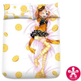 Wholesale Bedspread Silk - Anime Cartoon Love Live Kousaka Honoka Milk Silk Mattress Cover Fitted Sheet Fitted cover bedspread counterpane