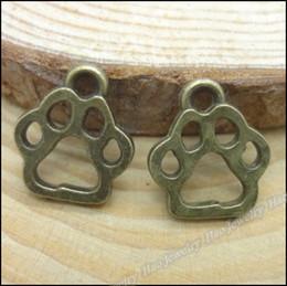 paw charm bronze 2018 - 200 pcs Charms Bear's paw Pendant Antique bronze Zinc Alloy Fit Bracelet Necklace DIY Metal Jewelry Findings