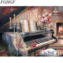 2019 numero di pittura fiore FGHGF Frameless Wall Art Home Decor x Immagini di fiori Pittura By Numbers DIY Digital Oil Painting On Wall numero di pittura fiore economici