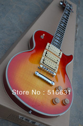 Wholesale Pick Ups For Guitar - Free shipping!! New arrival custom shop cherry Electric Guitar ACE FREHLEY 3 pick-up r