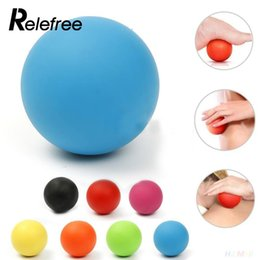 Wholesale Muscle Massage Roller - Relefree Gym Fitness Massage Lacrosse Therapy Trigger Point Body Exercise Sports Yoga Ball Muscle Relax Relieve Fatigue Roller