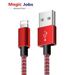 2019 cargador original huawei móvil Magic_jobs para iPhone Cable de iluminación por cable para iPhone X Braid Cable de carga rápida para iPhone 8 7 6 5 Cable de cargador USB de 1/2 / 3m