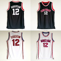 08c4a72b3ffe Chinese Cheap Oscar Robertson Jersey 12 University Basketball Cincinnati  Bearcats College Jerseys Men Black Color Breathable