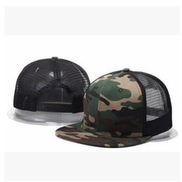 Style d'été en gros réglable blanc mesh camo casquettes de baseball chapeaux de relance pour hommes femmes mode sport hip hop os ? partir de fabricateur