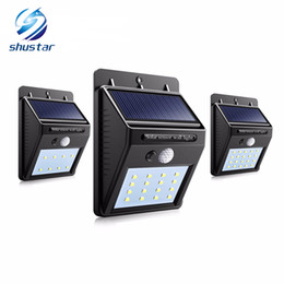 Wholesale Led Wall Lighting - Solar Power LED Solar light Outdoor Wall LED Solar lamp With PIR Motion Sensor Night Security Bulb Street Yard Path Garden lamp