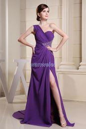 Wholesale Homecoming Dresses Zuhair Murad - free shipping fashion 2018 zuhair murad dress new design one shoulder custom size color chiffon cheap purple long evening dress