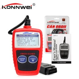 Wholesale Opel Bus - KONNWEI KW806 Universal Car OBDII Can Scanner Error Code Reader Scan Tool OBD 2 BUS OBD2 Diagnosis Scaner PK AD310 ELM327 V1.5