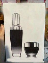 Wholesale Eye Bottle 15ml - 2pcs set Famous Brand Black Bottles Advanced Moisturizing face cream 50ml+15ml eye cream set Activating face and eye skin care free shopping