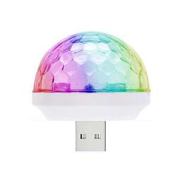 Luces LED para fiestas Luz de DJ RGB Cambio de color de sonido Actived Crystal Magic Mini Disco Ball KTV Xmas Wedding Party SoundLights desde fabricantes
