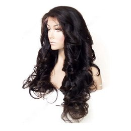 Wholesale dark auburn wavy wig - Brazilian Hair Wigs Virgin Human Hair Front Lace Wig with Baby Hair Natural Wavy Body Wave Full Lace Wigs For Black Women