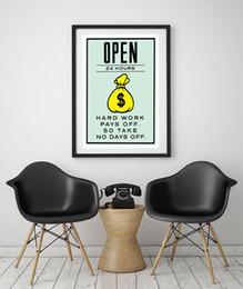 """Non encadré / Alec Monopoly """"Open 24 hours"""", HD Canvas Print décor à la maison wall art painting, culture d'art de bureau ? partir de fabricateur"""
