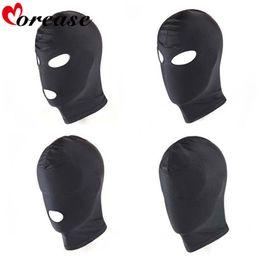 Morease 4 Stil Fetiş Unisex BDSM Hood Maske Siyah Ağız Göz Köle Hood Çift Kadınlar Için Seks Ürün Oyuncaklar Esaret Yetişkin Oyunu Y18110401 nereden gotik maskeler tedarikçiler
