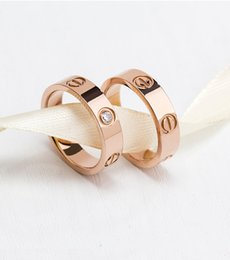 Wholesale rose engagement - Hot sale 316L Titanium steel nails rings lovers Band Rings Size for Women and Men brand jewelry PS8401