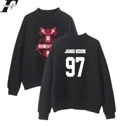 Wholesale Korean Style Men S Clothing - BTS Spring Kpop tracksuit women Hoodies Sweatshirts Women Men Korean Style Oversize Kpop Hoodie Clothes