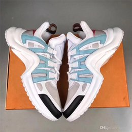 Wholesale Modern Flats - 2018 Luxury Brand Sneakers Ins Modern Fancywork Casual Shoes Blue White Gray Sneakers Running Shoes for Mens