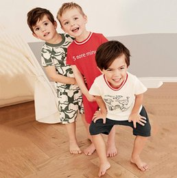 kids tiger clothing NZ - Dinosaur baby children clothes china kids boys clothes tiger toddler summer short clothing sets classic suit for boy toddler child suits