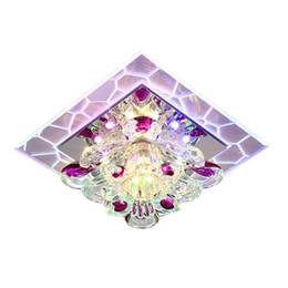 Argentina Lámpara de pared cuadrada moderna minimalista colorida creativa Crystal LED luces del pasillo para el hogar del pasillo del pasillo, envío de la gota de la ayuda cheap modern lamp crystal drops Suministro