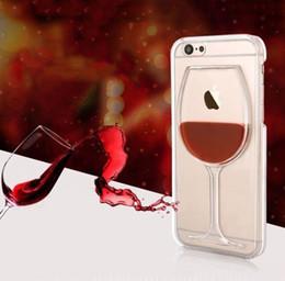 capa dura do vinho Desconto Vinho tinto de vidro transparente phone case rígido de volta capa para iphone 5 6 6 s 7 8 plus phone case