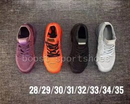 Wholesale knitted baby shoes - Kids children vapormax boy girl baby Shoes top qaulity Black purple red grey knitting Air cushion trainers sneakers Running Shoes size 28-35