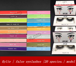 Wholesale Eyelash Extensions C Curl - 2018 kylie cosmetics high quality false eyelash handmade natural curling artificial eyelash, eyelash soft eyelash extensions black terrier,