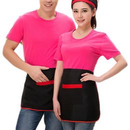 delantal cintura herramienta Rebajas Universal Unisex Kitchen Cooking Hotel Chef Delantales Chef Uniformes Cintura Delantal Corto Delantal Camarero con bolsillos Herramientas de cocinero