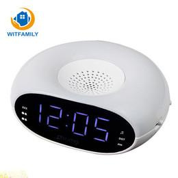 Mini orologio digitale a led online-Nuova radio di controllo digitale a LED Mini portatile portatile orologio sveglia Display a pisolino con luce notturna e timer sveglia