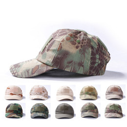special forces hats Promo Codes - Tactical Baseball Cap Men Army Special Force CaCombat Hat Outdoor Camouflage  Paintball Hunt Camping Casual Cap