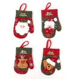 Forniture di coltelli online-Nuovo Natale Decorazioni Guanti Forma Borsa posate Coltello Forchetta Sacchetto regalo Tavolo Decorazione cena a casa Sacchetto di caramelle Forniture per feste di Natale