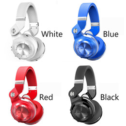 2019 auriculares de turbinas 2018 Bluedio Headest T2 + Turbine 2 Plus Auriculares Bluetooth plegables Bluetooth 4.1 Auriculares Soporte Tarjeta SD y Radio FM para llamadas Música auriculares de turbinas baratos