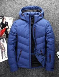 Wholesale 3xl North Face - Men's outdoor north down jacket short and slim young students winter sports coat tidal face.