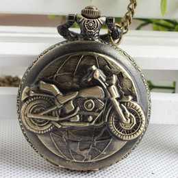 Wholesale antique trade - Personalized Motorcycle Pocket Watch Retro Exquisite Quartz Fashion Retro Large Foreign Trade Wholesale Hanging Table 3SY10