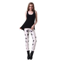 2019 leggings pies gratis Pantalones Elásticos Casual 3D Impresión Digital Blanco pies pequeños Patrón Mujeres Leggings 7 tamaños Ropa de Fitness Envío Gratis leggings pies gratis baratos