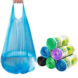 мини мешочки Скидка Авто закрыть мешок для мусора утолщенной утечки доказательство одноразовые пластиковые мешок бытовой кухня очистки мусора мешок для хранения сумки