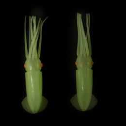 Cuerpos de señuelos de agua salada online-10pcs / lot 5.9inch señuelos de la pesca del agua salada Cuerpos de pulpo luminosos señuelos de luz brillan en el aparejo del cebo artificial plástico suave suave