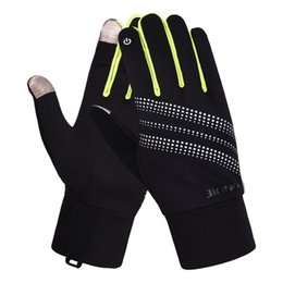 2019 нейлоновые спандексные перчатки Kakaforsa New Outdoor Sports Running Gloves Men Women Warm Touch screen Fitness Gloves Multi-function Windproof All Finger Glove