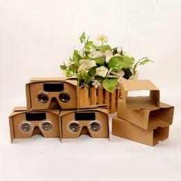 Google occhiali virtuali online-Fai da te Google VR Cardboard 2.0 V2 occhiali VR scatole di carta Realtà virtuale 3D Visualizzazione google II Occhiali per iphone x STY106