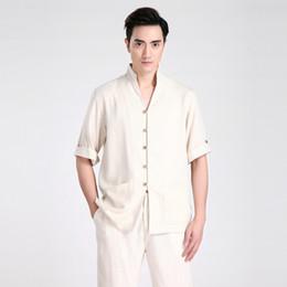 Hommes cheongsam en Ligne-T-shirt Cheongsam traditionnel chinois à manches courtes pour hommes de Shanghai Story