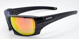 Lunettes de soleil tactiques ESS Rollbar 4 lunettes avec étui d'origine 2 couleurs Noir Khaki Tactical Army Eyeshield ? partir de fabricateur