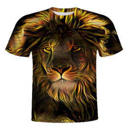 Marche cool tshirt online-Maglietta Lion Lion Feitong Maglietta Lions Maglietta Abbigliamento Maglietta Tops Uomo Maglietta 3d 2017 T-shirt cool