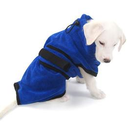 Roupa quente de secagem rápida absorvente super de toalha de banho do Bathrobe do cão de animal de estimação de Microfiber supplier microfiber pet towels de Fornecedores de toalhas de microfibra pet