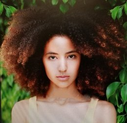 Donne nere piene parrucche online-Personalizza 150 Densità Afro crespo ricci 1b / 4 di colore dei capelli umani merletto pieno parrucche per donne di colore Linea sottile naturale