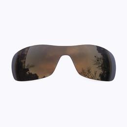 Lentes de substituição de óculos de sol on-line-Bronze ouro espelhado polarizada lentes de substituição para antix óculos de sol anti poeira anti-água salgada
