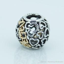Wholesale cheap european charm beads - 5 pcs lot Cheap believe charms lot S925 sterling silver fits pandora style bracelets 791436 H6